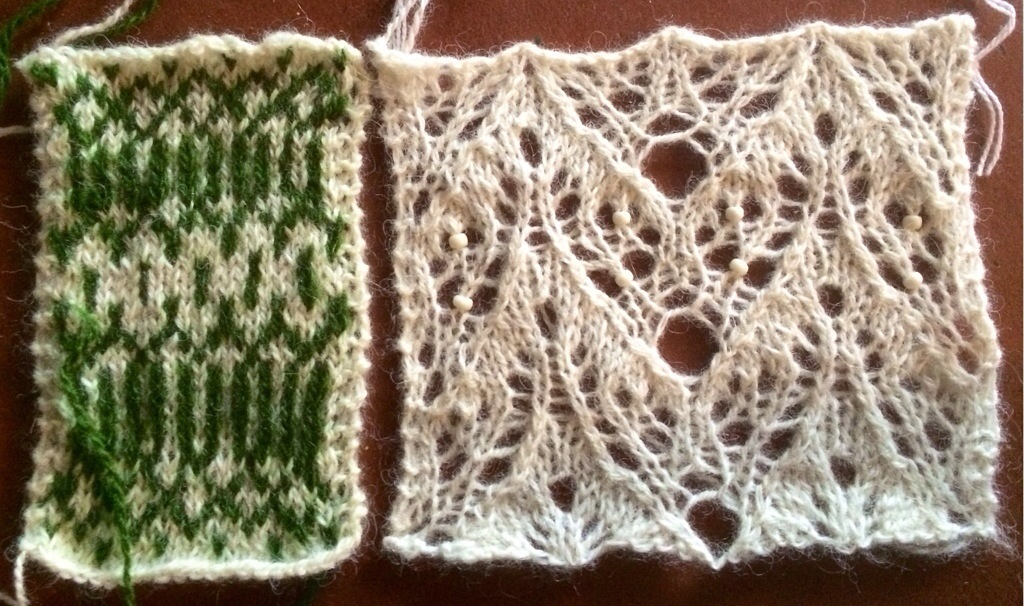 Summer (free stranded and lace knitting stitch patterns)