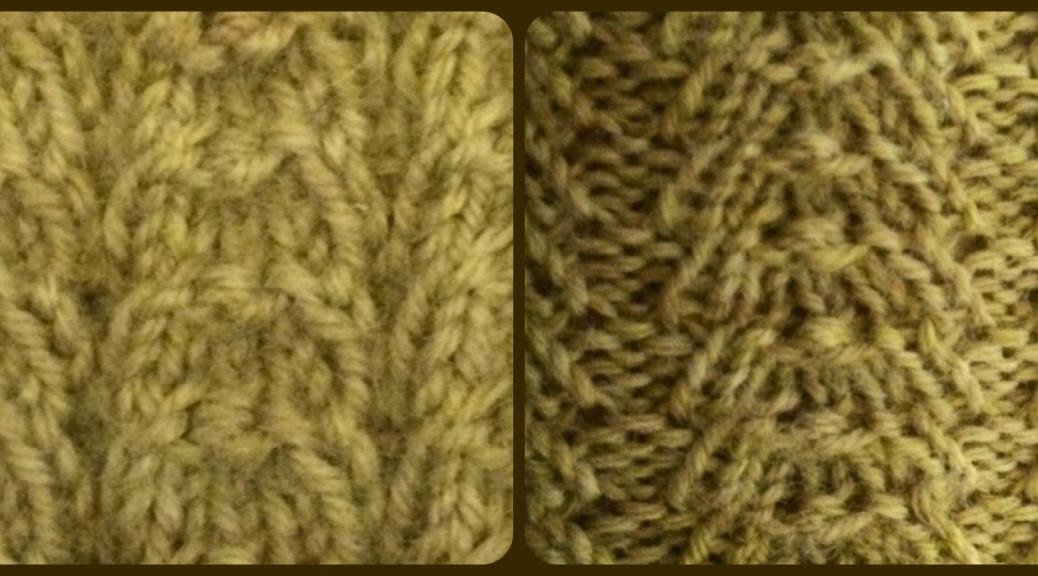 Braid stitch, relaxed and stretched out.