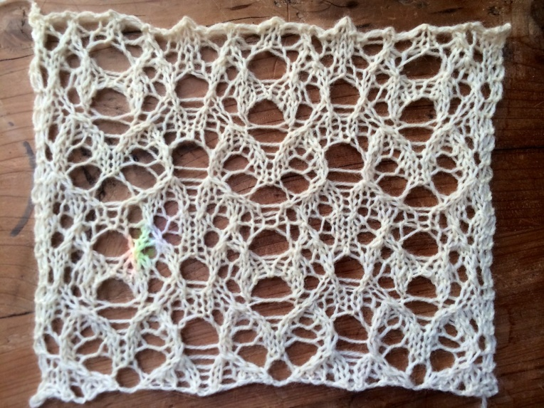 Lace pattern designed using the word Serendipity as a basis.