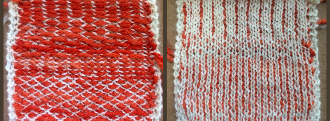 The other kind of knitweaving. Front and back are both intersting.