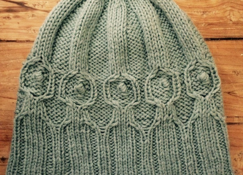 Circulus hat, finished for the Giftalong.
