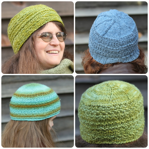 Onward: a top-down hat recipe with the word Onward encoded in the stitch pattern.