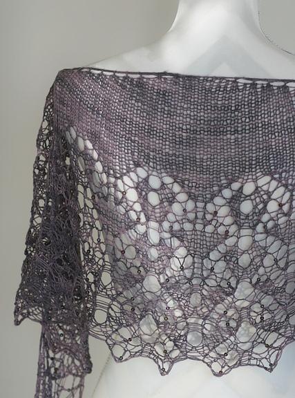 Ashputtel shawl, by Nim Teasdale.