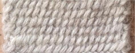 Twice-knit knitting.