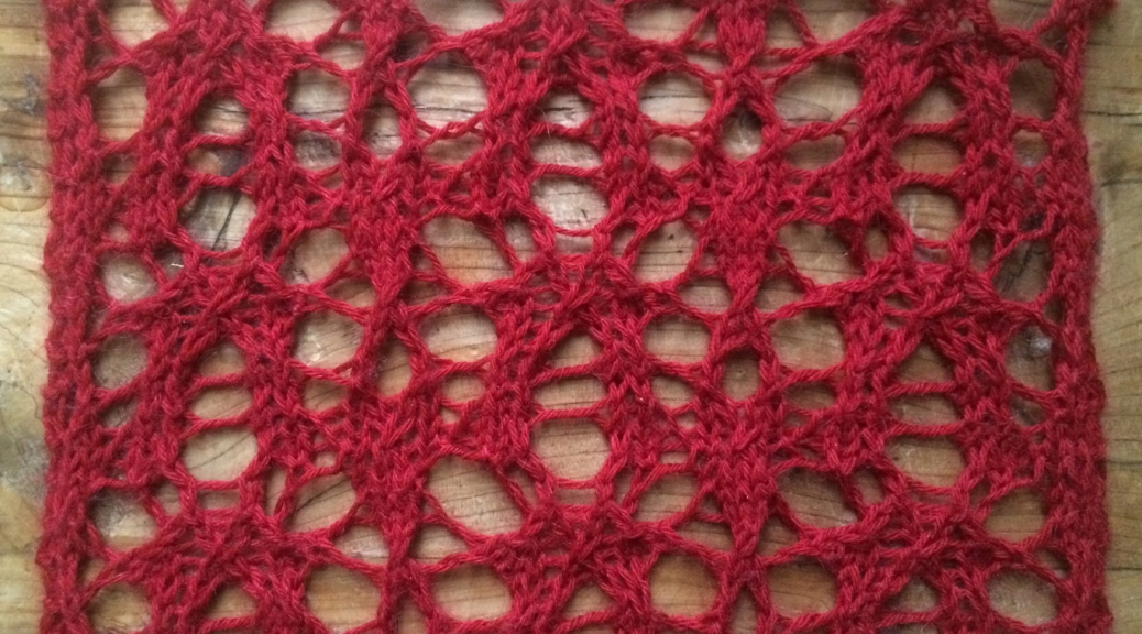 Embers, encoded as a free lace pattern.