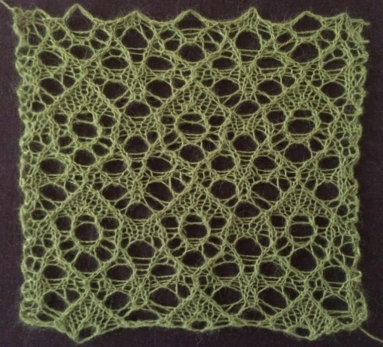 Fruitbat: a free lace knitting stitch pattern