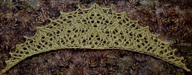Galaxite, a free lace knitting pattern.