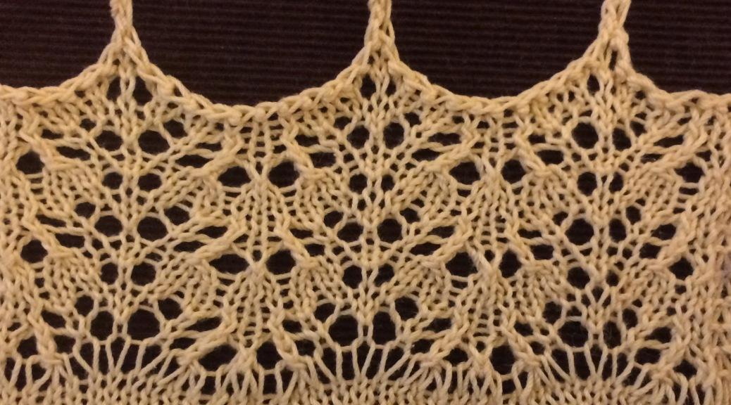 Arr: a free lace knitting stitch pattern