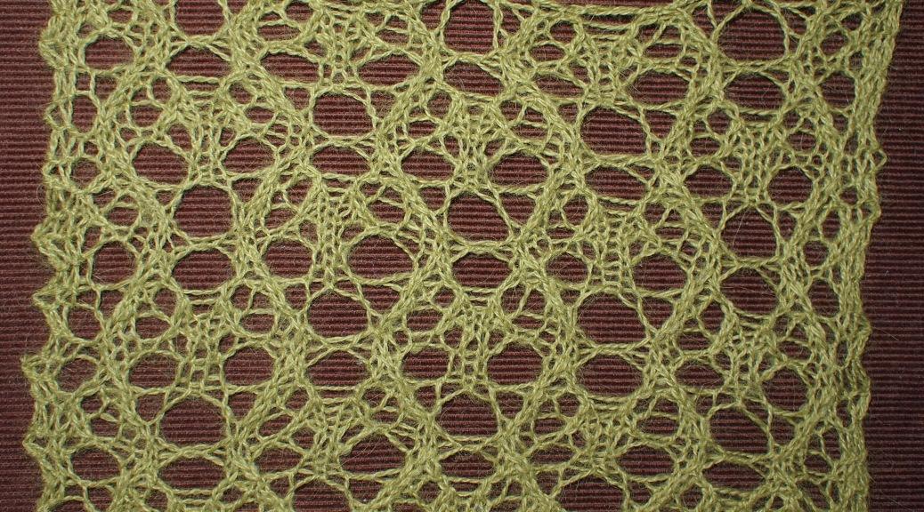 Moon: a free lace knitting stitch pattern