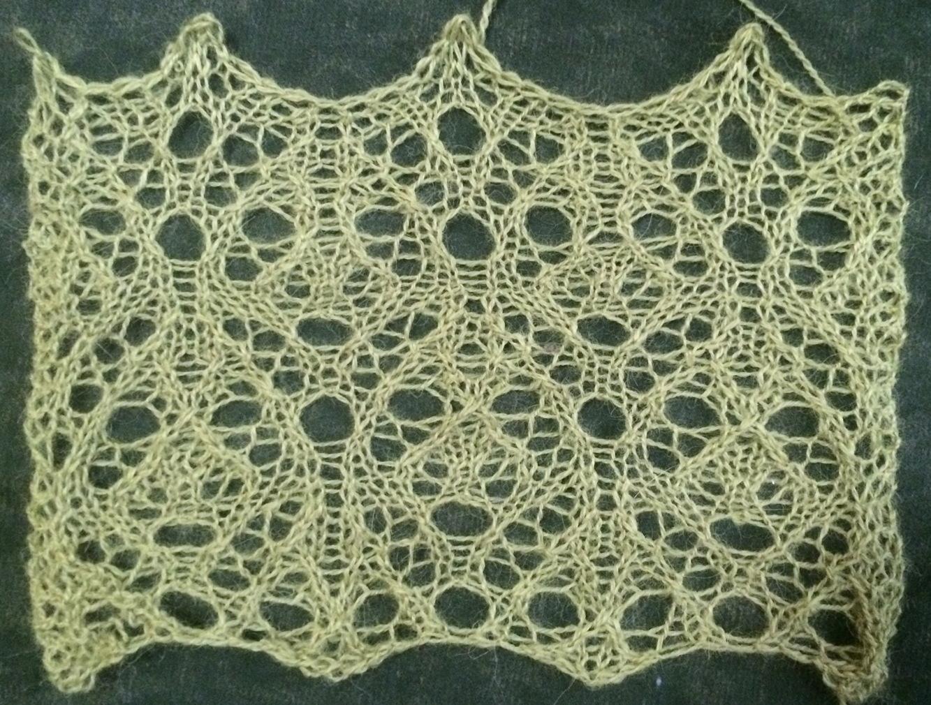 Knitting Lace Stitches Patterns : Groundhog a free lace knitting stitch pattern string