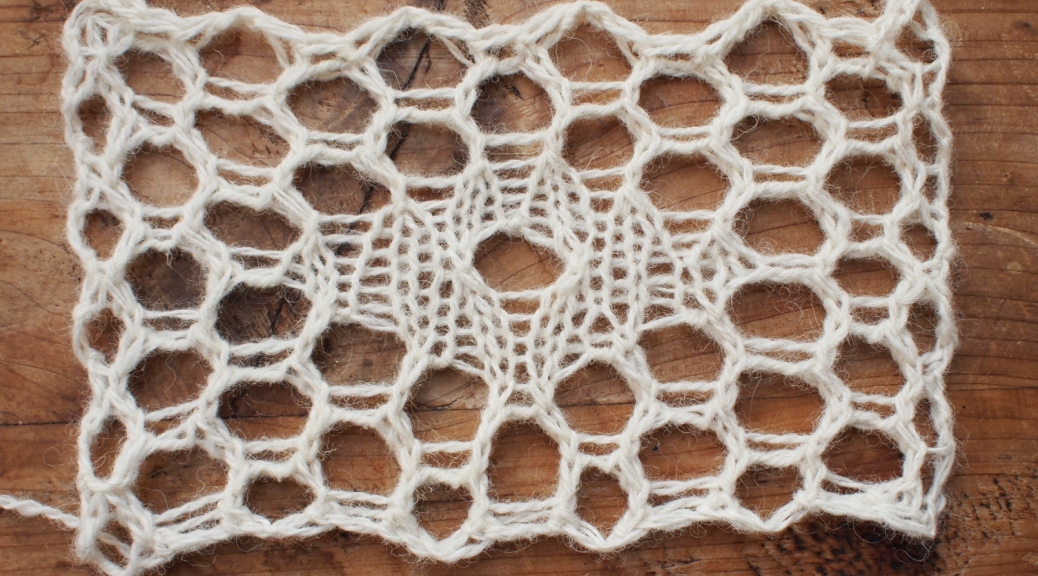 Étude number 10: a hexagonal knitted relative of filet lace