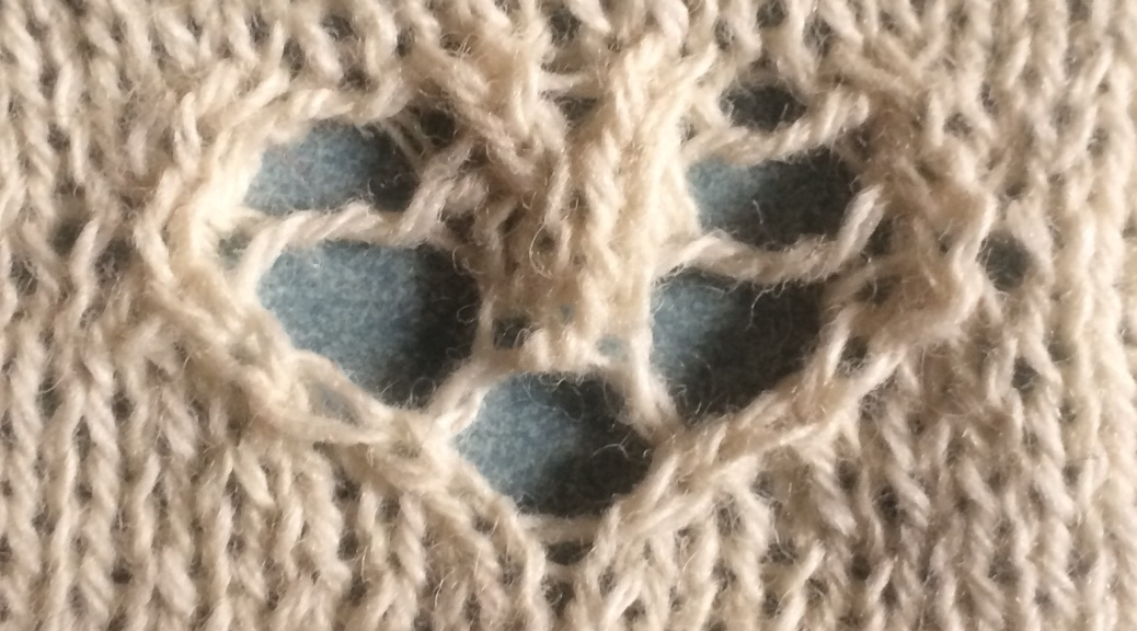 Serendipity heart : a free knitting stitch motif