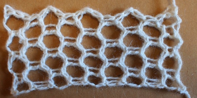plain swatch of honeycomb mesh