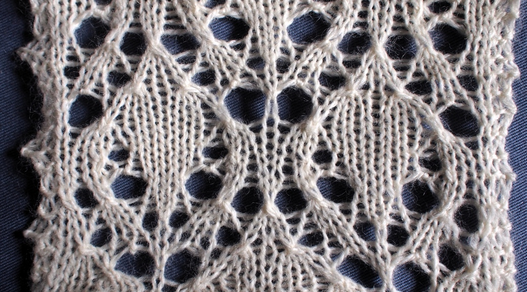 beech leaves: a free lace knitting stitch