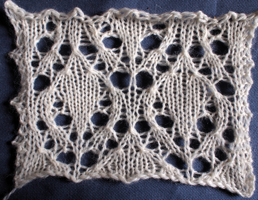beech leaves: a free lace knitting stitch