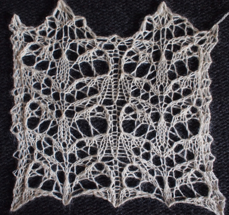 Solitude: a free lace knitting stitch for any craft