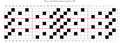 Peace half rotated half