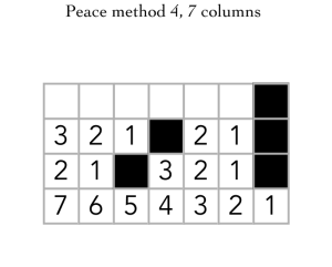 Peace method 4 7 columns