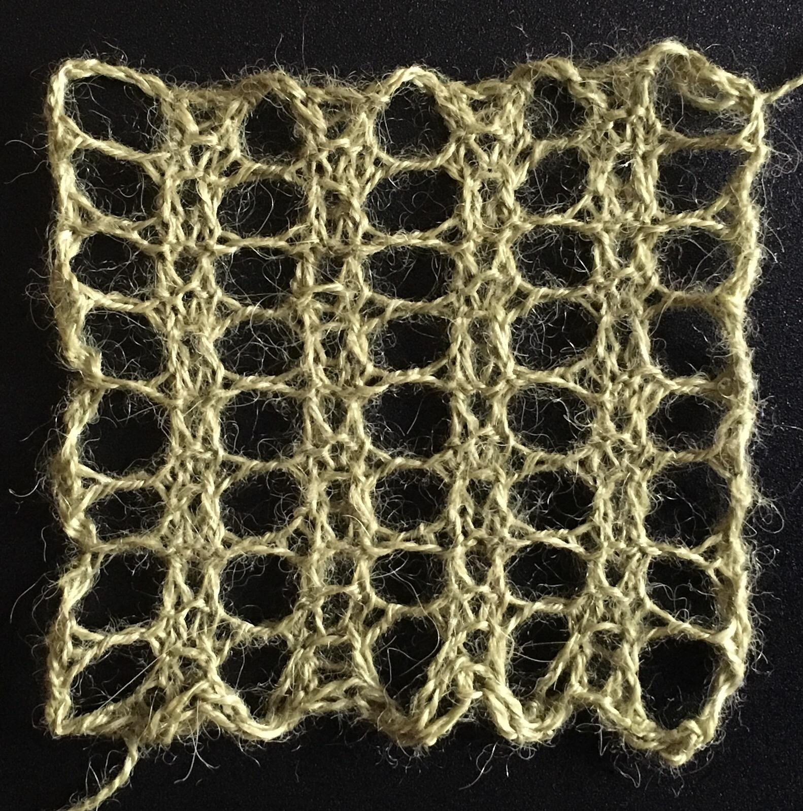 Three row mesh: a free knitting stitch pattern – String Geekery