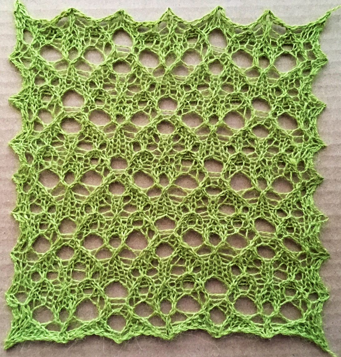 Gritty: a free lace knitting stitch pattern