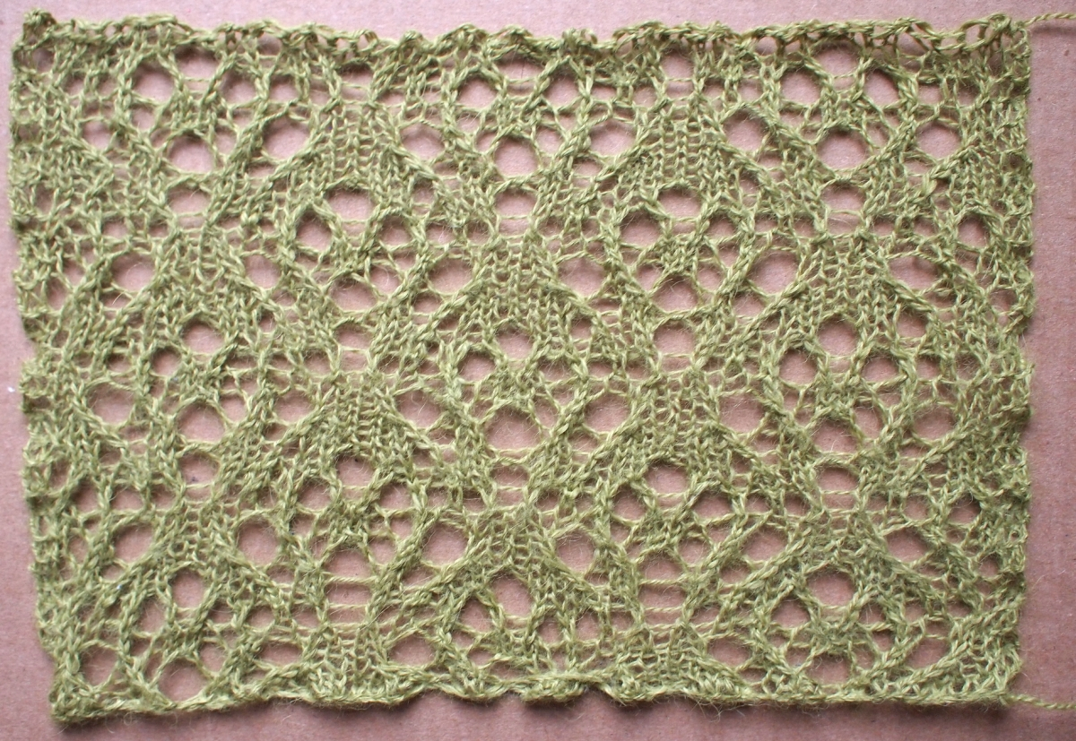 Journey: a free lace knitting stitch pattern   String Geekery