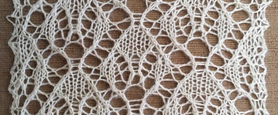 Resist: a free lace knitting stitch pattern