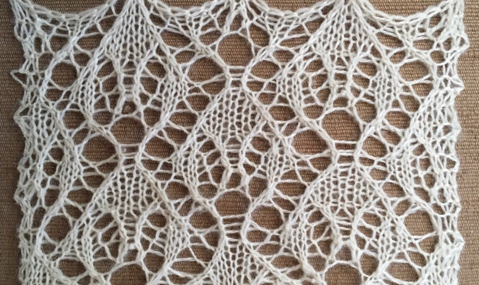 Resist: a free lace knitting stitch pattern