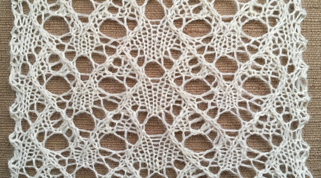 Persist: a free lace knitting stitch pattern