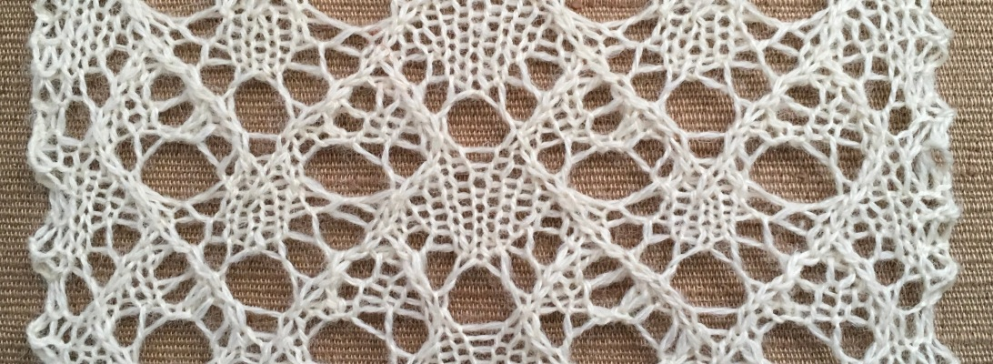 Persist: a free lace knitting stitch pattern