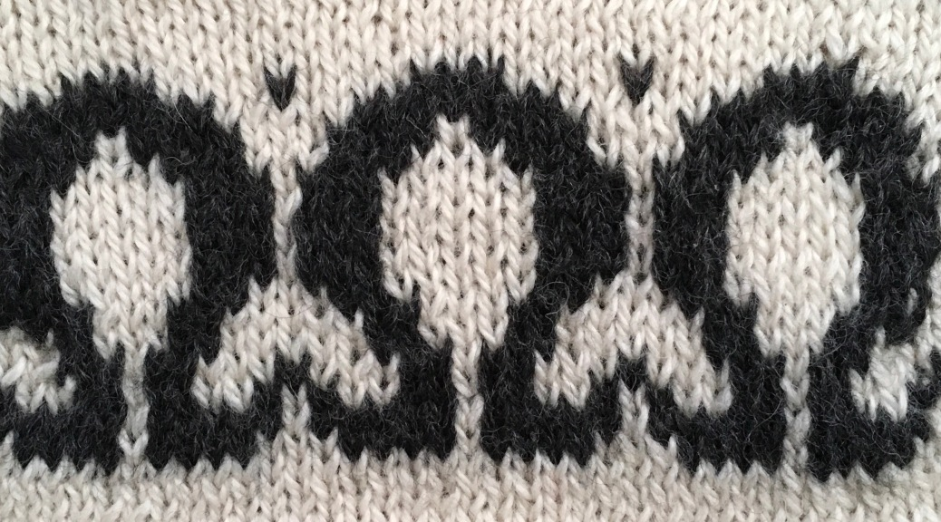 Omega: a free chart for stranded knitting