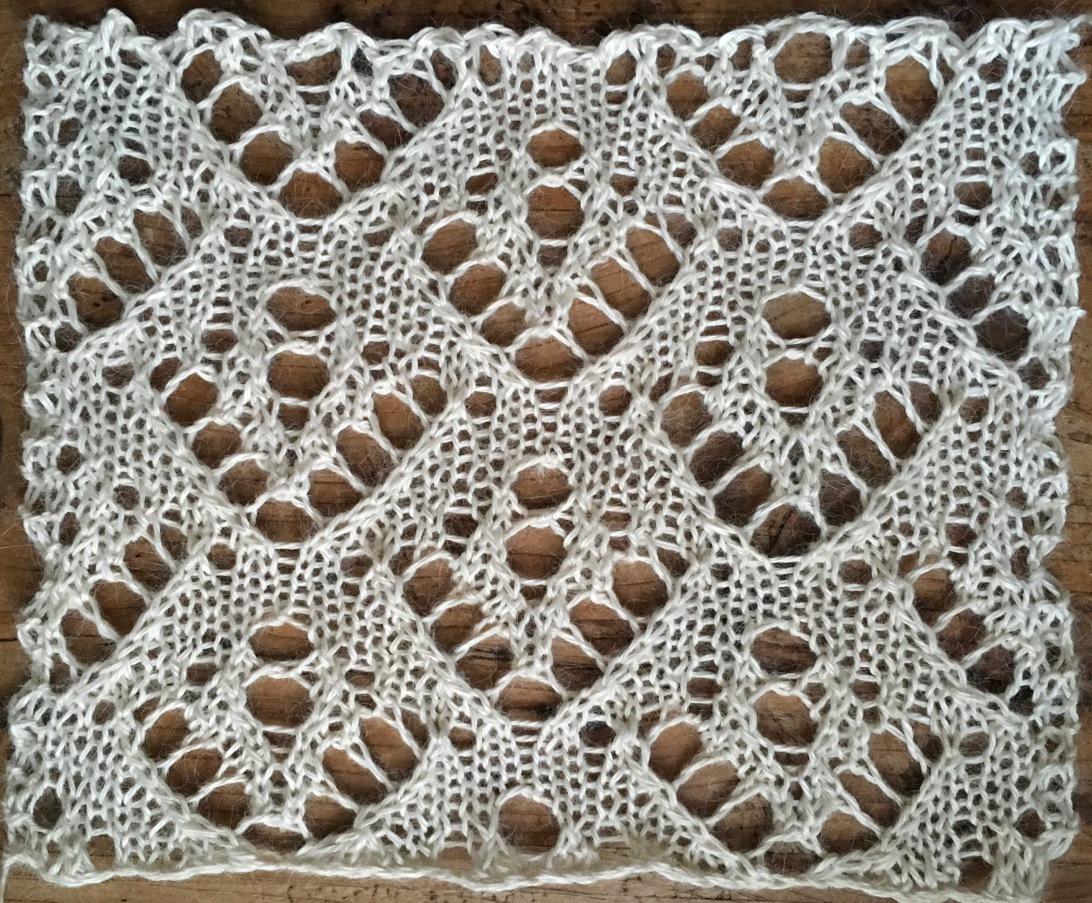 Coffee: a free lace knitting stitch pattern