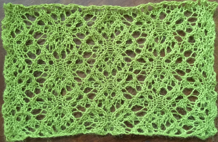 Gardens: a free lace knitting stitch pattern