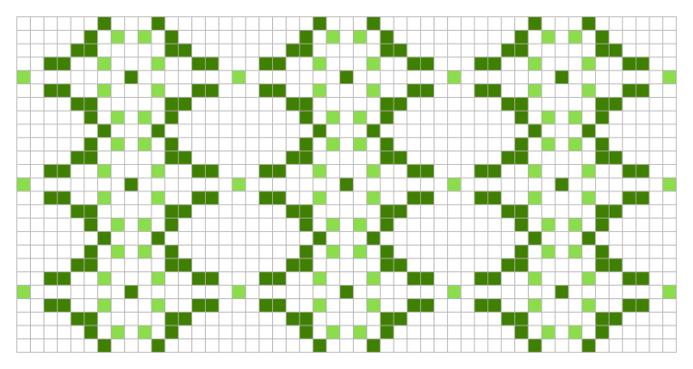 Green: a free needlework chart for any craft.