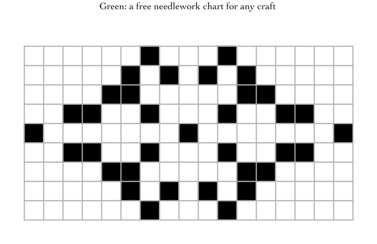 Green: a free needlework chart for any craft