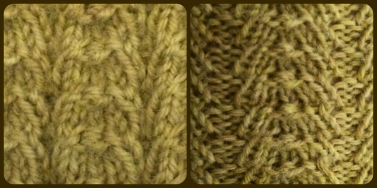braid stitch, both stretched and unstretched