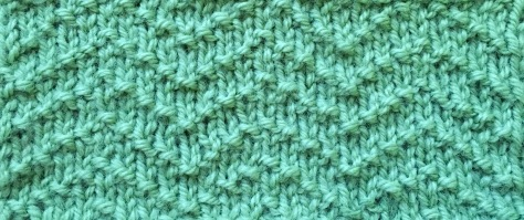 Chevron Seed Stitch