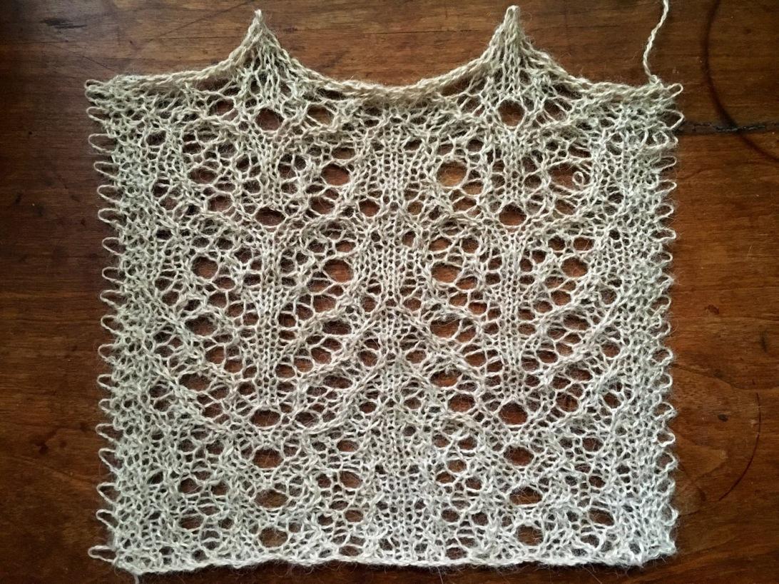 Sunshine: a free lace knitting stitch pattern