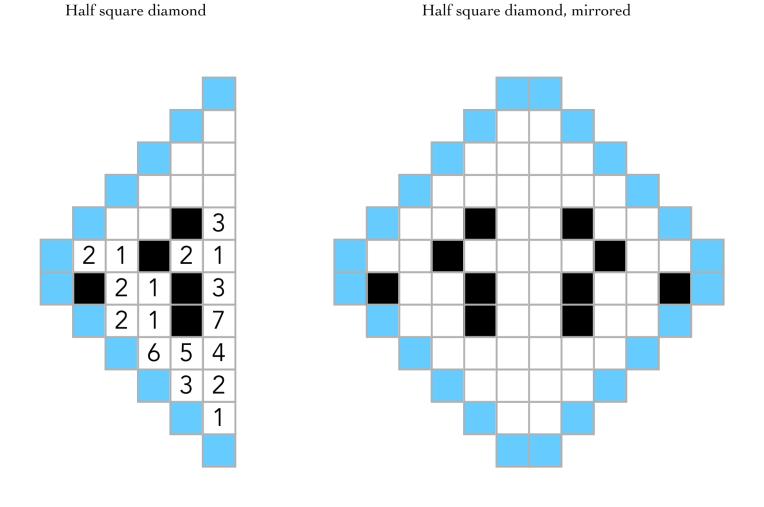 peace half square diamonds 1