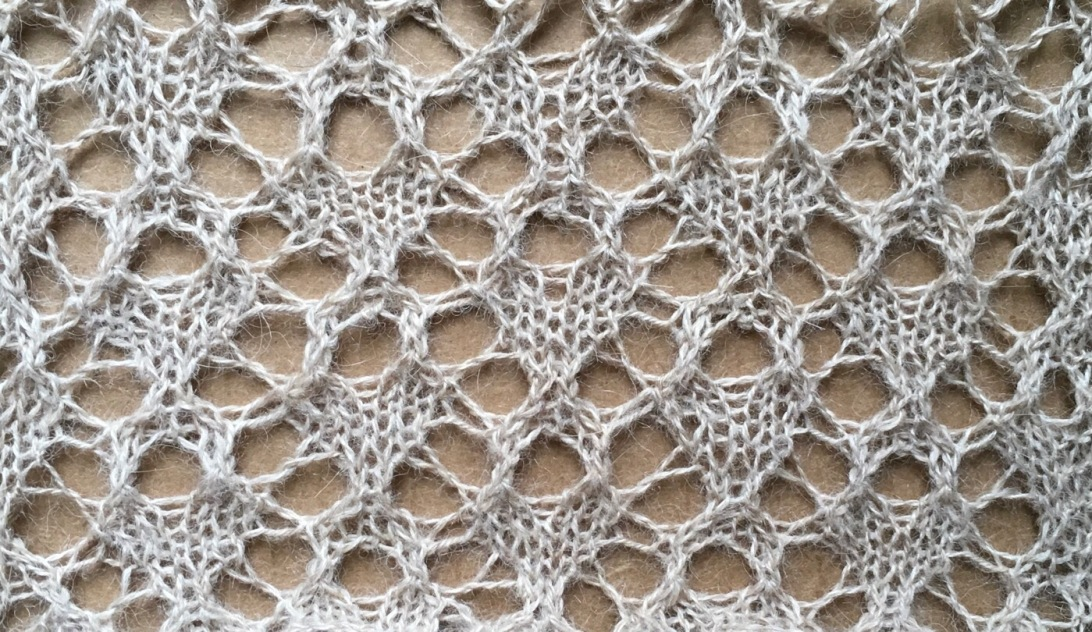 Tea: a free lace knitting stitch pattern