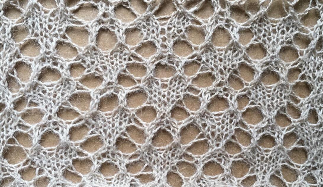 Tea: a free lace knitting stitch pattern