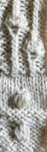 three kinds of bobbles from Japanese Knitting Stitch Bible by Hitomi Shida.