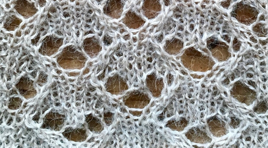 Swags: a free lace knitting stitch pattern