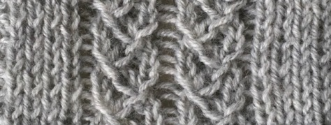 gathered braids: a free knitting stitch pattern