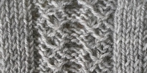 gathered fronds: a free knitting stitch pattern