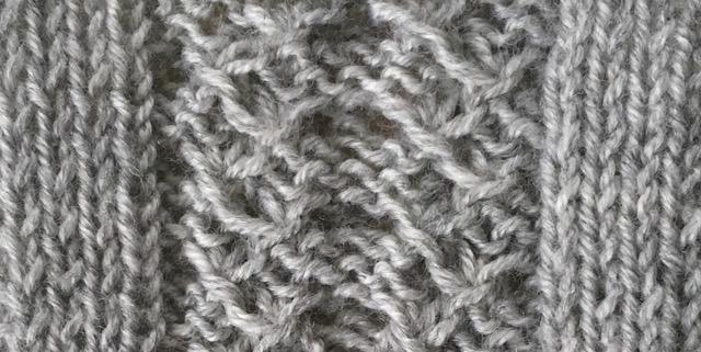 gathered fronds: a free knitting stitch pattern