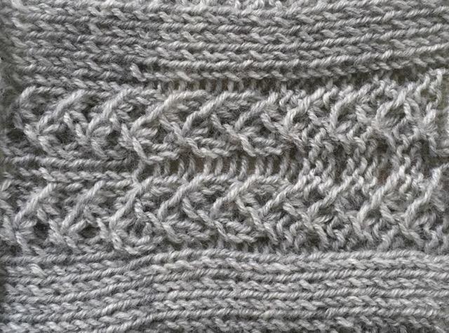 three free stitch patterns made with gather stitches