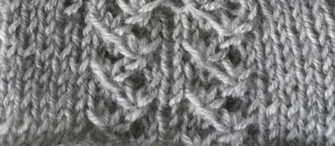 gathered tendrils: a free knitting stitch pattern