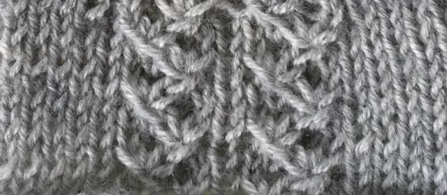 gathered tendrils: a free knitting stitch pattern