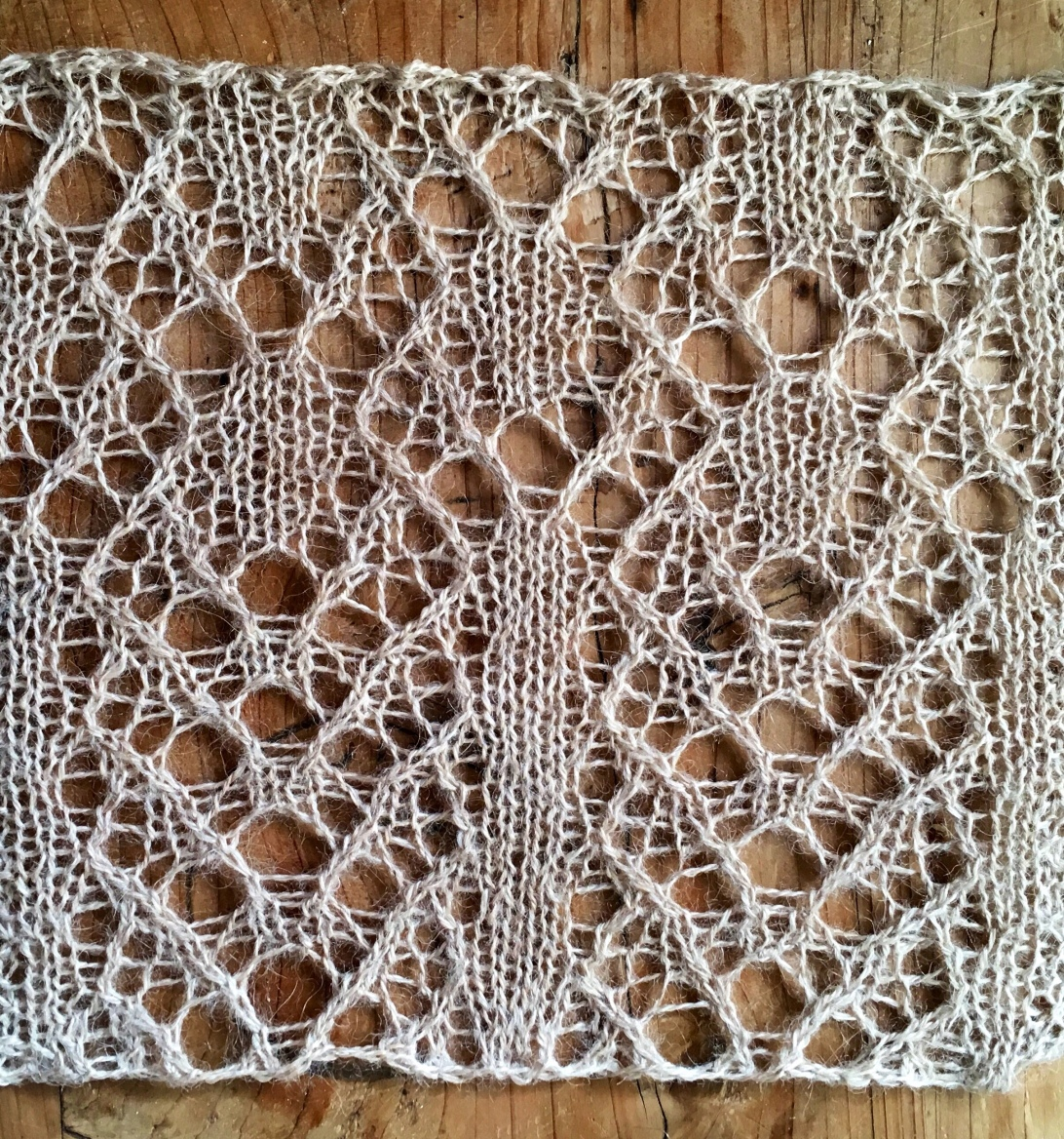 Rest: a free lace knitting stitch pattern