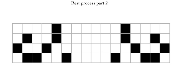 mirrored code grid for the word Rest
